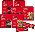 Slim-Fast Cookie Jar Slimbox, 15 Chocolate Cookie Dough & 15 Chocolate Fudge Brownie protein meal bars