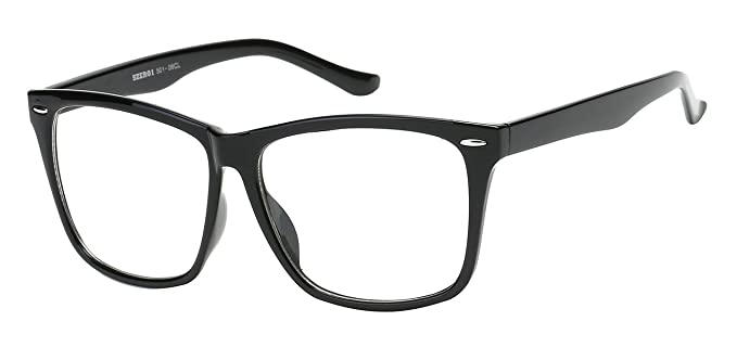 Amazon.com: 5zero1 Fake Glasses Big Frame Nerd Party Men Women ...