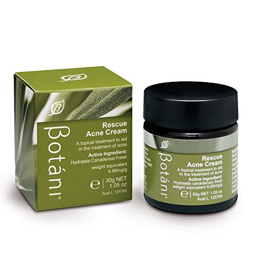 Botani (Australia) RESCUE ACNE CREAM – 100% All-Natural Acne Treatment. Proven 99.9% Kill Factor on P.acne Bacteria. FREE of Benzoyl Peroxide. Non-drying. Treats Acne, Rosacea, Blemishes, Redness, Zits, Pimples, Whiteheads, Inflammation, Irritation, Ingrown Hair. (USA Seller). ()