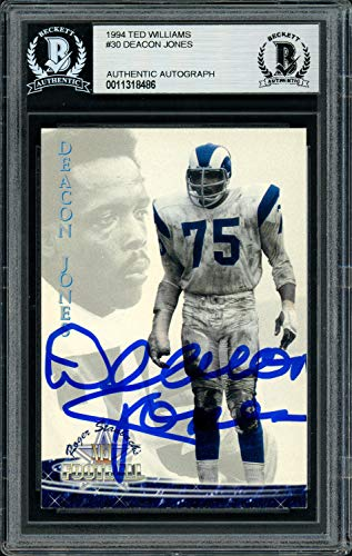 Deacon Jones Autographed Signed Memorabilia 1994 Ted Williams Card #30 Los Angeles Rams - Beckett Authentic ()