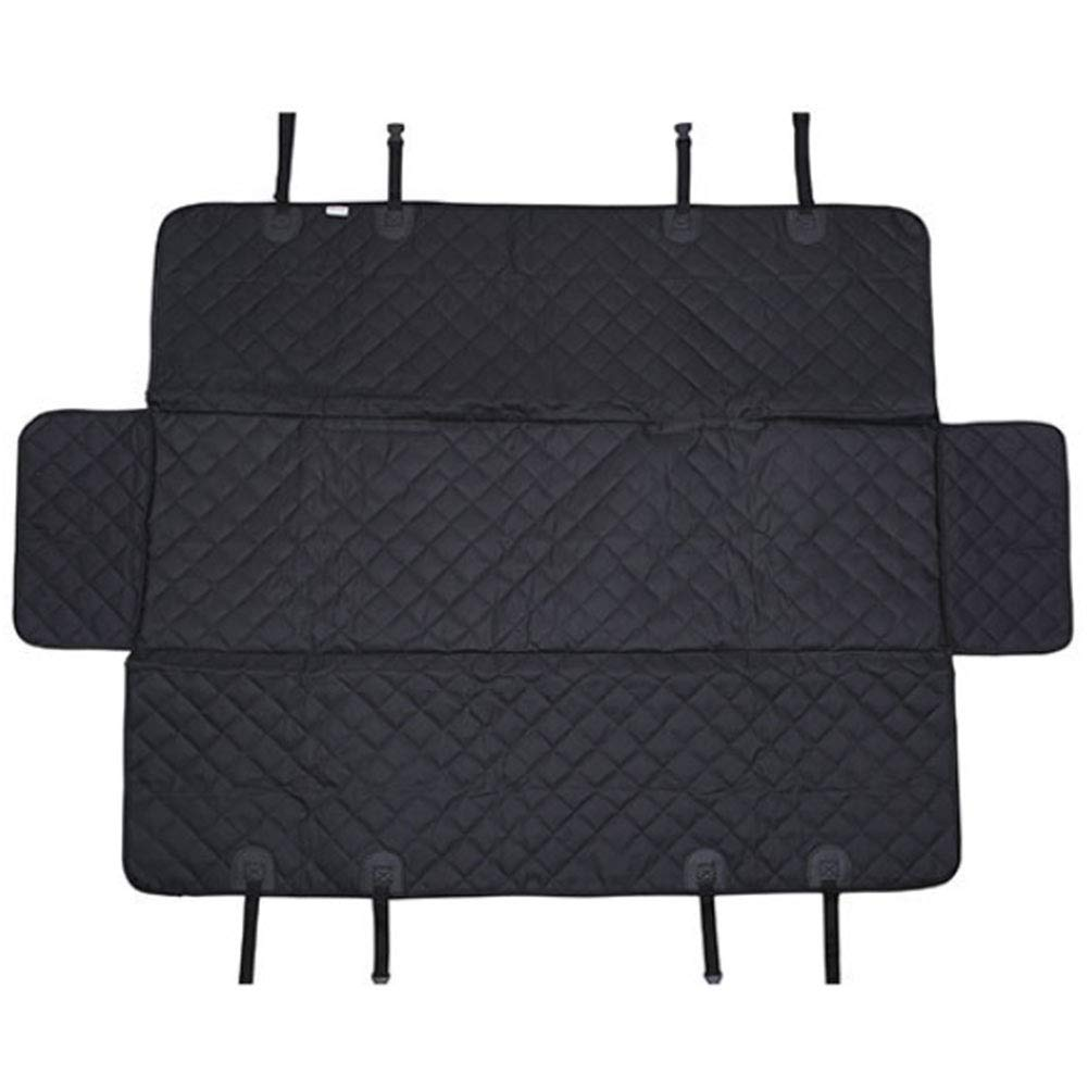 HAOJINFENG Dog Supplies Car Portable Anti-slip Mat Rear Seat Dog with Waterproof Anti-dirty Pad with Side Black Dog Pad