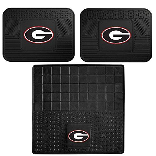 Georgia Bulldogs Cargo - FANMATE Set of 2 Vinyl Utility Mat with Vinyl Cargo Mat (NCAA University of Georgia Bulldogs)