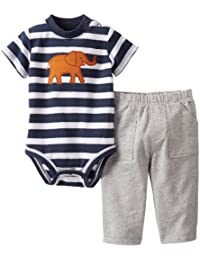 2 Piece Interlock Bodysuit Set (Baby)