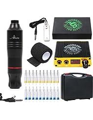 Dragonhawk Cartridge Tattoo Machine Kit Pen Rotary Tattoo Machine Cartridge Needles Power Supply for Tattoo Artists 1013-7 (Atom)