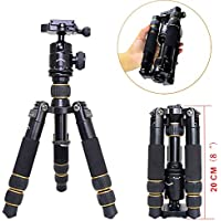 koolehaoda KQ-166 Travel Portable Mini Tripod With Ball Head For DSLR Camera (KQ-166 Mini triod)