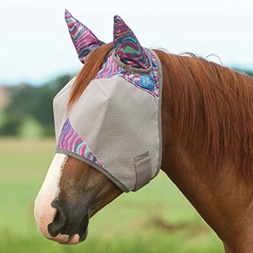 Cashel Company Patterned Fly Mask w/Ears HORSE Magenta