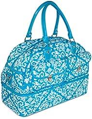 Ever Moda Damask Womens Drop Bottom Duffel Bag