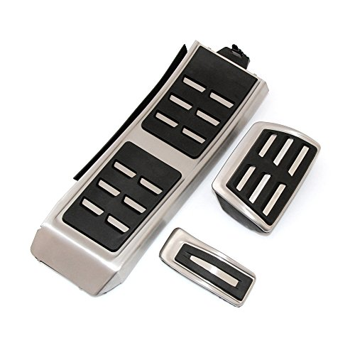 VCiiC Fuel Brake Rest Pedal Cover Automatic Manual Pedal Plate Cover Set Fit Audi A4 S4 A5 A6 Q5 S5 A7 2012 2013 2014 by VCiiC