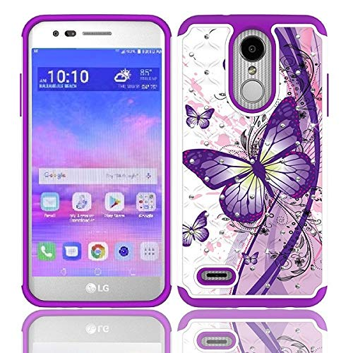 official photos 6bfcd d7b5b LG Rebel 4 Case, LG (Rebel 4) 4G LTE Case, AT&T Prepaid LG Phoenix 4 Case,  Phone Case for Straight Talk LG Rebel 4 Prepaid Smartphone, Studded ...