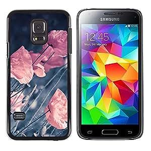 LECELL--Funda protectora / Cubierta / Piel For Samsung Galaxy S5 Mini, SM-G800 -- RETRO flores en colores pastel VIGNETTE --