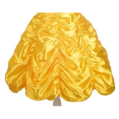 Dressy Daisy Girls' Princess Yellow Gold Ball Gown Birthday Party Fancy Dress Up Halloween Costume Size 18M-12
