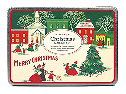 Vintage Christmas.Cavallini Papers Co Cavallini Vintage Christmas Mailing Set
