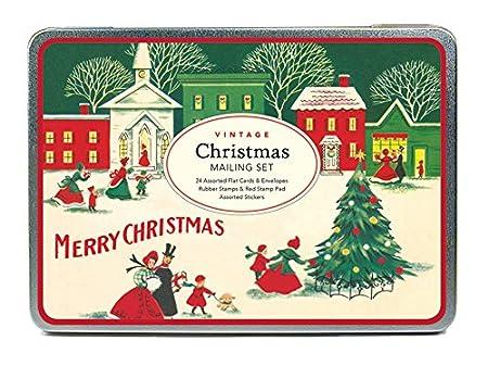 amazon com cavallini papers co vintage christmas mailing set