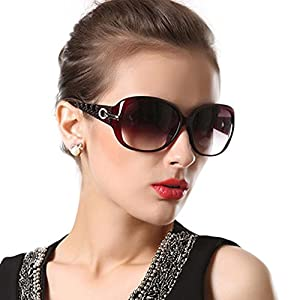 Duco Women's Shades Classic Oversized Polarized Sunglasses 100% UV Protection 6214