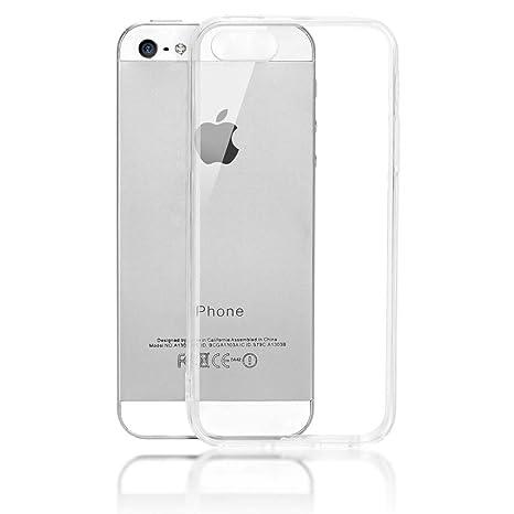 NALIA Funda Carcasa Compatible con iPhone SE 5 5S, Protectora Movil Transparente Silicona Ultra-Fina con TPU Bumper, Goma Cubierta Cobertura Delgado ...