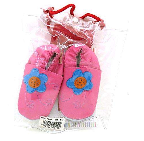 Cuquito suave Zapatos de gateo Zapatos primeros pasos zapatos de bebé Zapatillas de Cuero cuero rosa - rosa