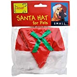Casual Canine Santa Hat for Pets, Sizes: Medium measures 5in wide