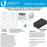 Ubiquiti F-POE 2Pack FiberPoE Optical PoE devices +POE-50-60W w/ US PowerCord