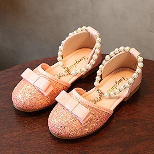 Hunpta Prinzessin Schuhe, Kleinkind Kind Mädchen Baby Mode Prinzessin Dance Leather Casual Einzelne Schuhe Rosa