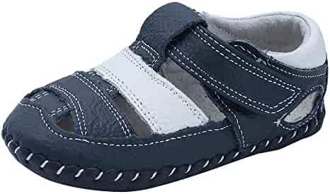 Yikey Baby Boys Summer Hard Bottom Non-Slip Sandals Toddler Shoes First Walkers Shoes