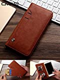 ClickCase™ for Oneplus 3 & One Plus 3T Flipper Series Leather Wallet Flip Case Kick Stand with Magnetic Closure Flip Cover for Oneplus 3 & One Plus 3T (Brown)