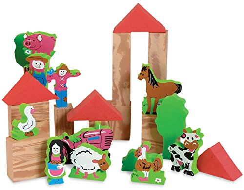 Edushape My Soft World Farm Block Set -58 Piece Set