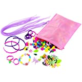 Jewelry Making Kit - 500-Piece Pop Snap Beads with Pink Storage Bag, Creative DIY Set for Rings, Bracelets, Necklaces, Ideal for Christmas Stocking Stuffer, Secret Santa, Birthday Gifts for Girls