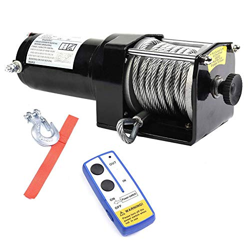 Toolsempire Electric 3000LBS 12V ATV UTV Winch Recovery with Remote Wireles Control