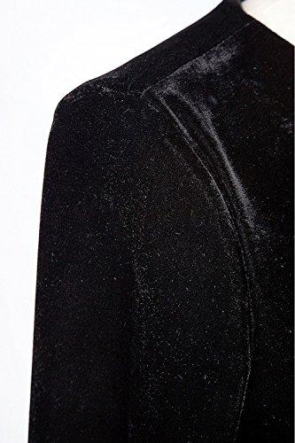Est Manches Robe Femme Noir Longues Sevozimda De Taille lgant Maxi La Velours Et 0cacwqEY