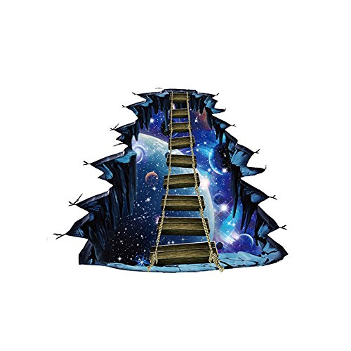 Elevin(TM) 3D Star Floor Stickers Wall Decals Removable Art Wall Paper Mural Home Decor (A)