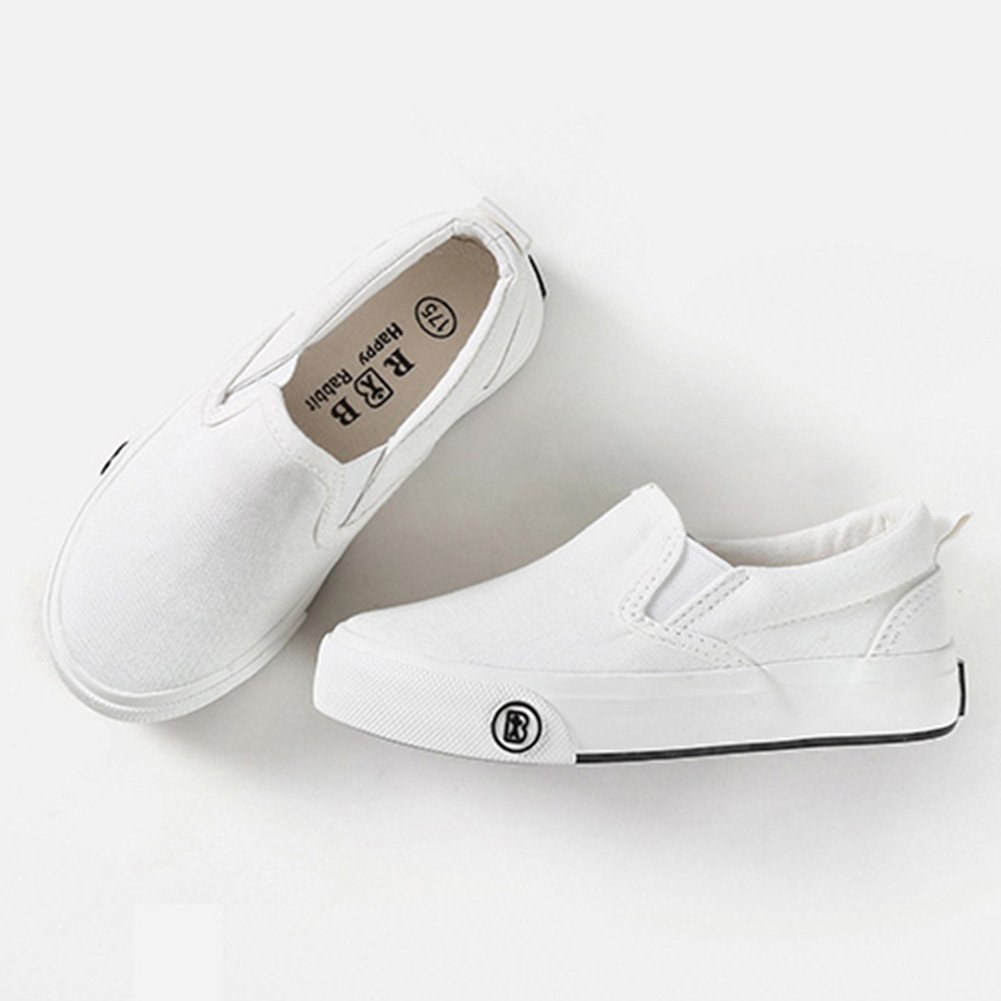 SFNLD InStar Kids Classic Round Toe Low Top Slip On Canvas Loafers Shoes