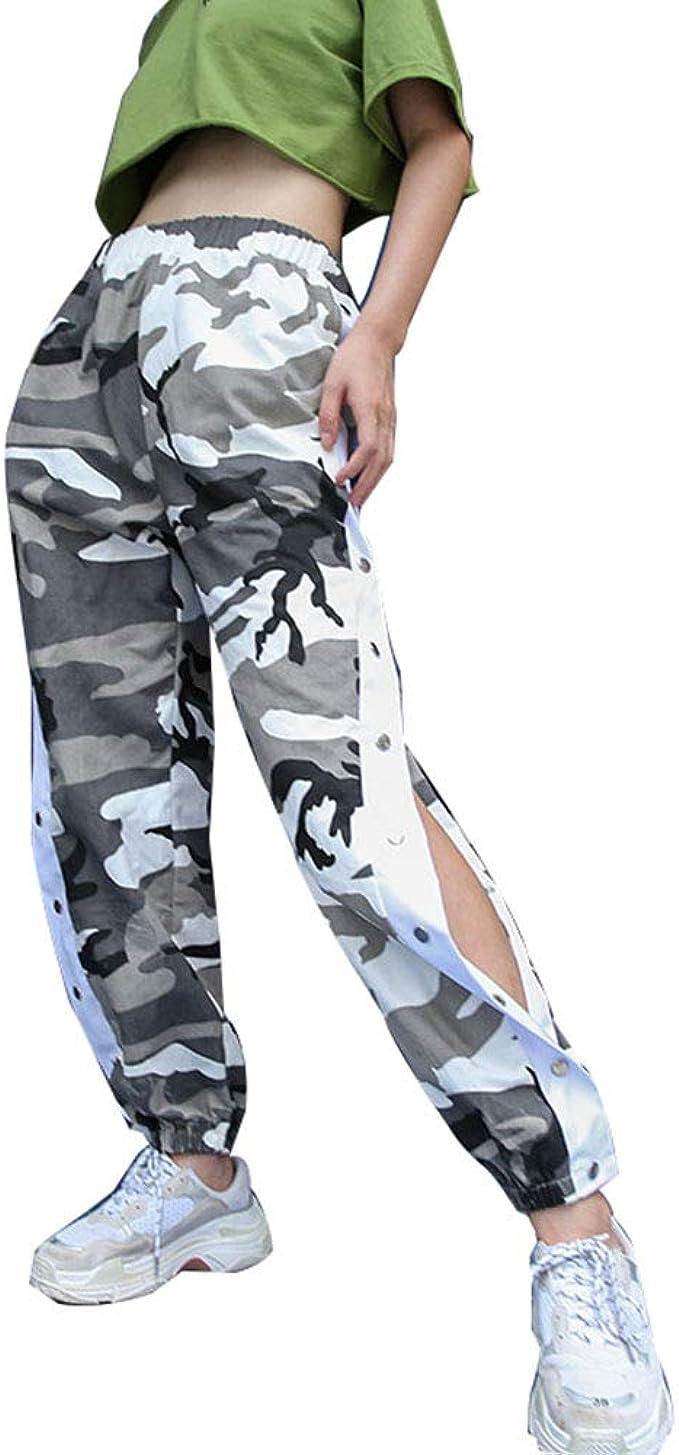 Sijux Pantalones De Pantalón De Chándal De Camuflaje Hip-Hop De ...