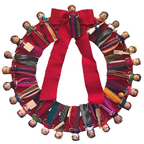 (Taraluna - Fair Trade, Organic, Green & Ethical Gifts Large Festive Mayan Doll Wreath with Bow 12