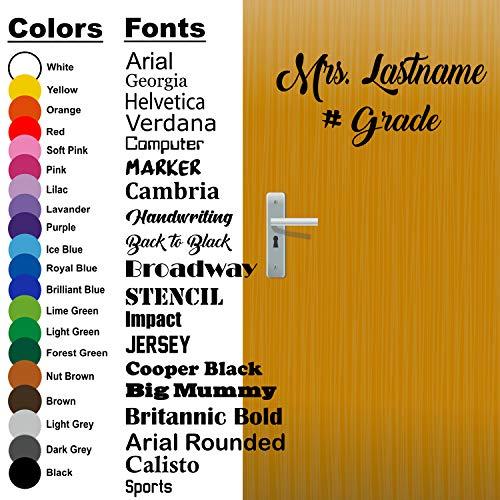 Back to School, Custom Teacher Name, Teacher Decal, Classroom Decor, Vinyl Wall Decal, Classroom Wall Decal, Teacher Door, Come in Decal