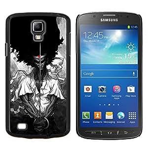 Samurai Negro Ferguson Derechos Libertad- Metal de aluminio y de plástico duro Caja del teléfono - Negro - Samsung i9295 Galaxy S4 Active / i537 (NOT S4)