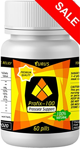 Herbal Prostate Supplement, 100% Natural Bioscience Nutrition, Prostate Pills Against Frequent Urination and Inflammatory Diseases of the Urinary Tract
