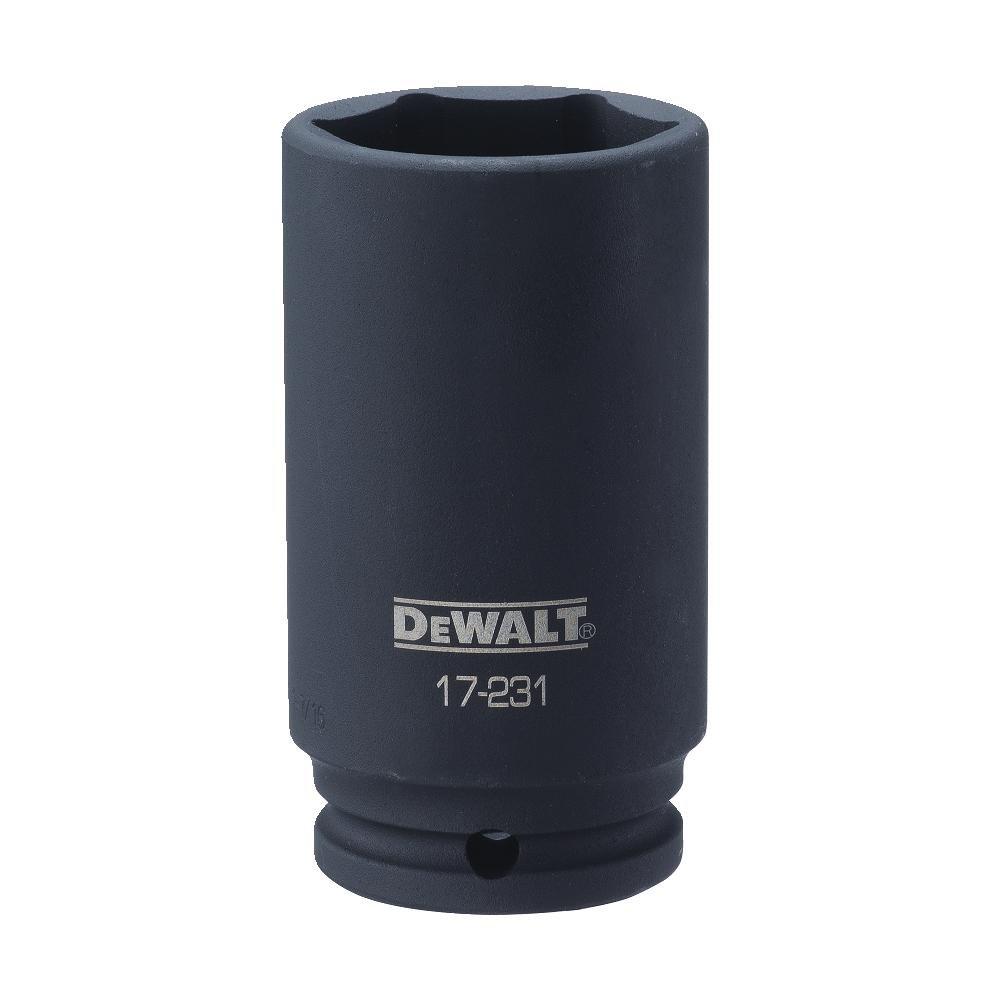 DEWALT 1/2'' Drive Socket Deep Impact 6PT 1 7/16