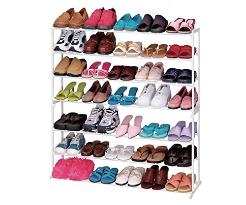 MasterPanel - 35 Pair 7 Tier Modern Shoe Organizer Stand Tower Holder Shoe Rack Storage #TP3312