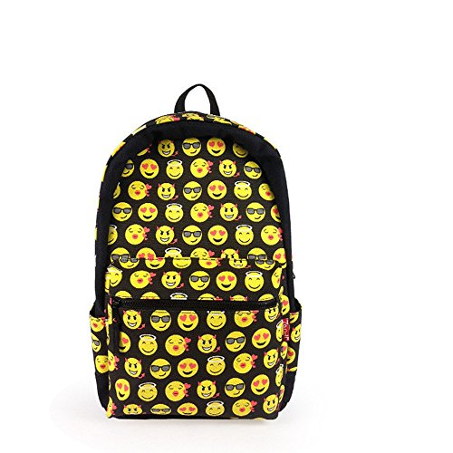 Novelty Emoji Kids Backpack School Bag Book Bag Children Girls Drawstring Bags - Chair Black Tectonic Fabric
