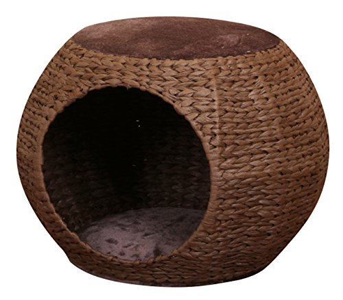 "Cozy Cave - PetPals PP2275B-2016 Cat House and Condo, 22"" x 22"" x 16"", Brown"