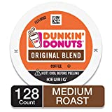 Dunkin' Donuts Original Blend Medium Roast Coffee, 128 K Cups for Keurig Makers