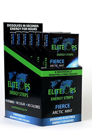 Elite Ops Energy Strips FIERCE ARCTIC MINT (Energy Strips compare prices)