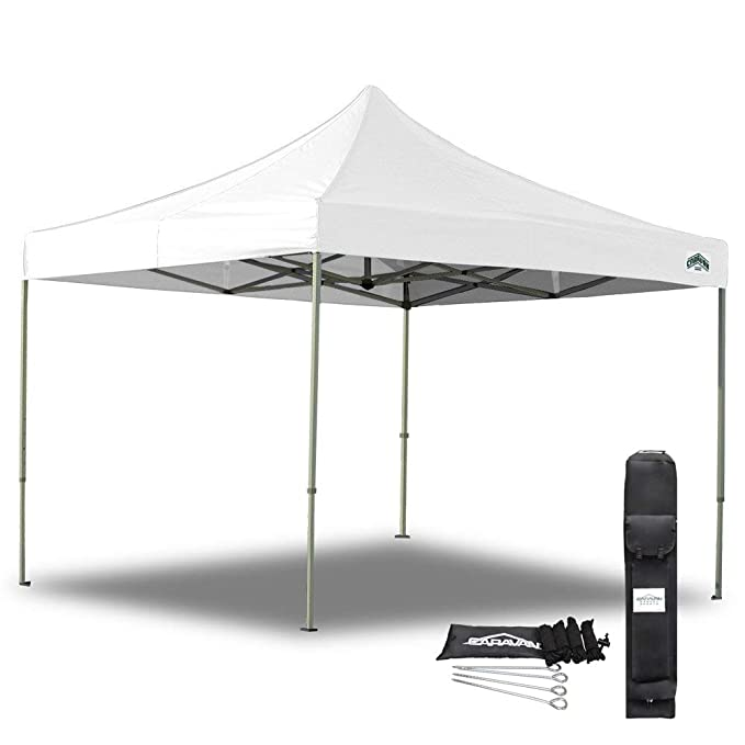Caravan Canopy 10 X 10 with Foot Straight Leg Display