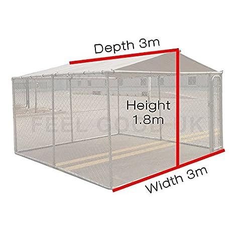 Jaula de ejercicios para perro, 3 m x 3 m: Amazon.es: Productos ...