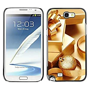 YOYO Slim PC / Aluminium Case Cover Armor Shell Portection //Christmas Holiday Gold Presents 1206 //Samsung Note 2