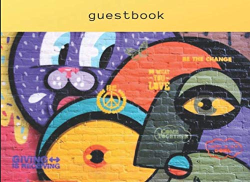 Guestbook: Vacation Rental Visitor Guest Book Amsterdam Graffiti for Airbnb, VRBO, TripAdvisor,...