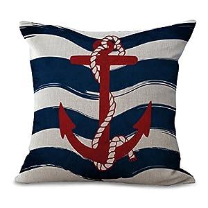 51Bk9LAg6dL._SS300_ 100+ Nautical Pillows & Nautical Pillow Covers