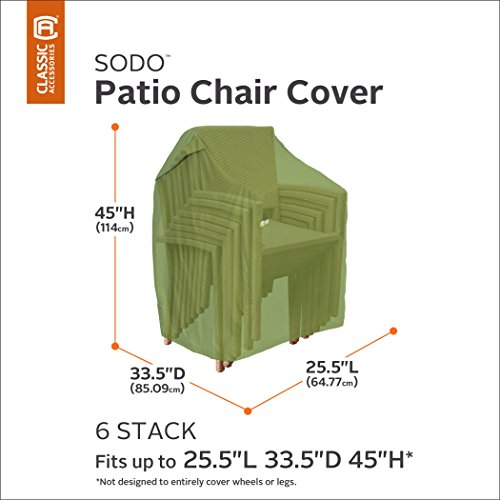 Classic Accessories Sodo Stackable Patio Outdoor Chairs Cover Tough and