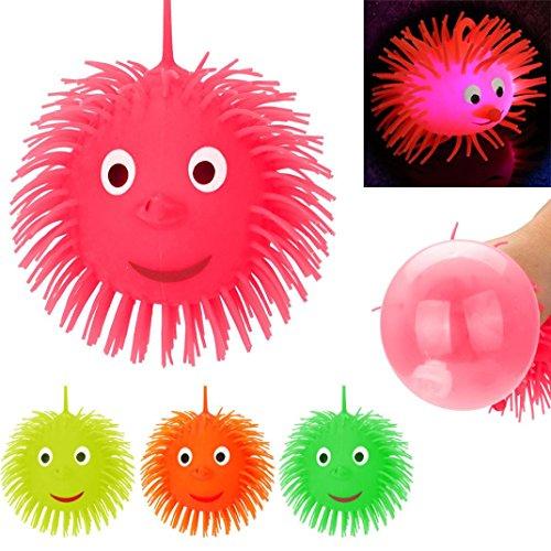 Boyiya Multicolor Flashing Puffer Balls Squeezable Stress Squishy Toy Stress Relief Ball For Fun (Random (Enhanced Key Telephone)