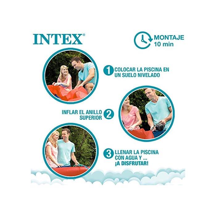 51Bk9vb3TAL Piscina hinchable infantil INTEX gama Easy Set, formato redondo Medidas: 183x51 cm, capacidad para 880 litros Diseño: cangrejo con ojos y extremidades en relieve hinchable